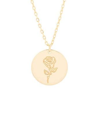 June Birth Flower Rose Pendant
