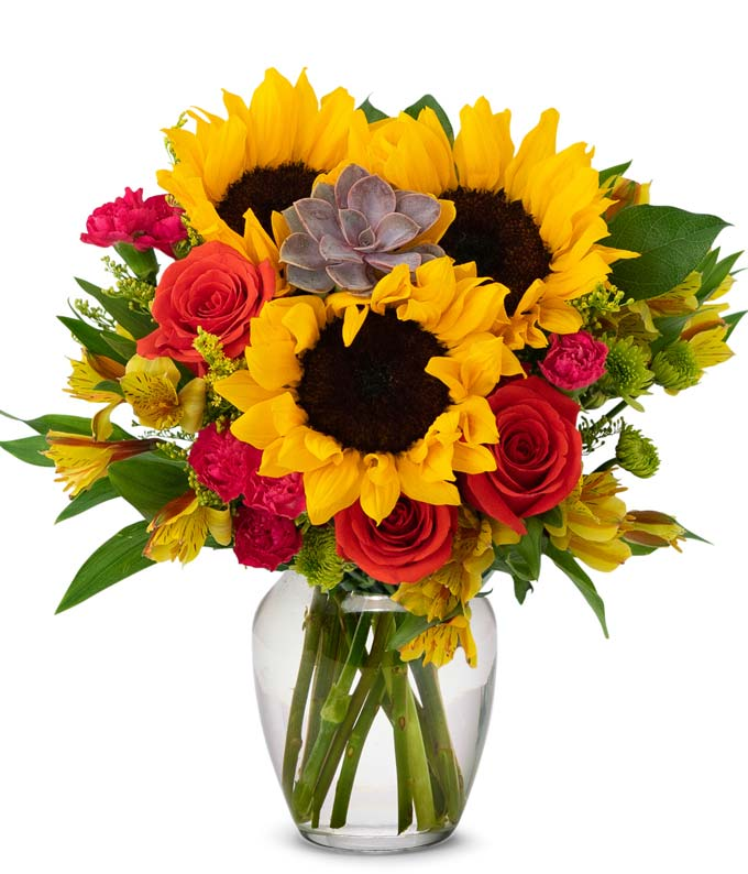Sunflower Succulent Bouquet