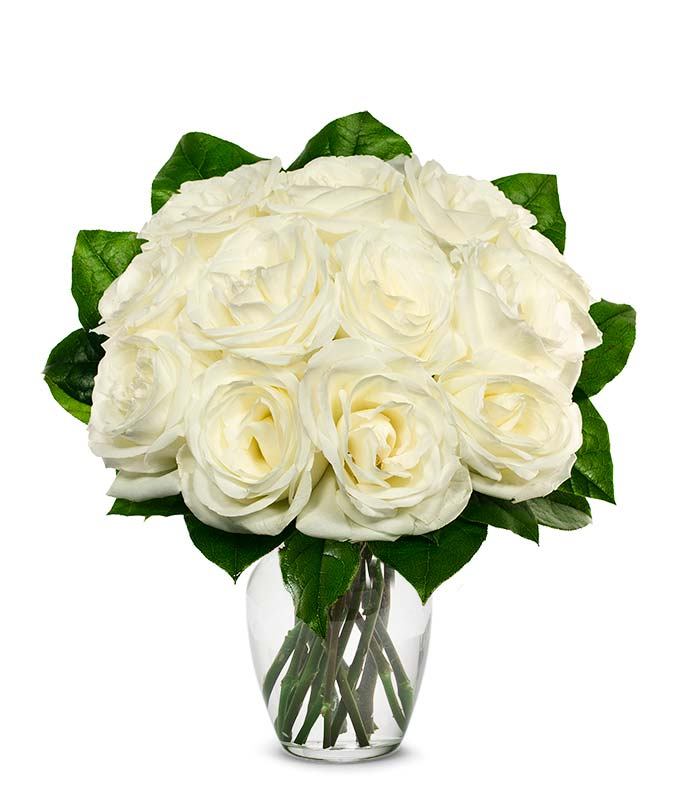 One Dozen White Roses At From You Flowers
