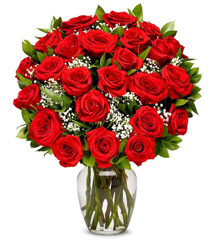 two dozen valentine roses in red for delivery next day flower delivery - Valentine Flower Delivery