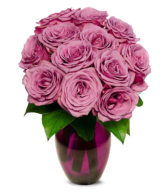 Mother's Day purple roses