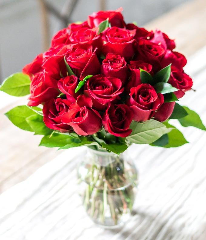 24 Long Stemmed Red Roses