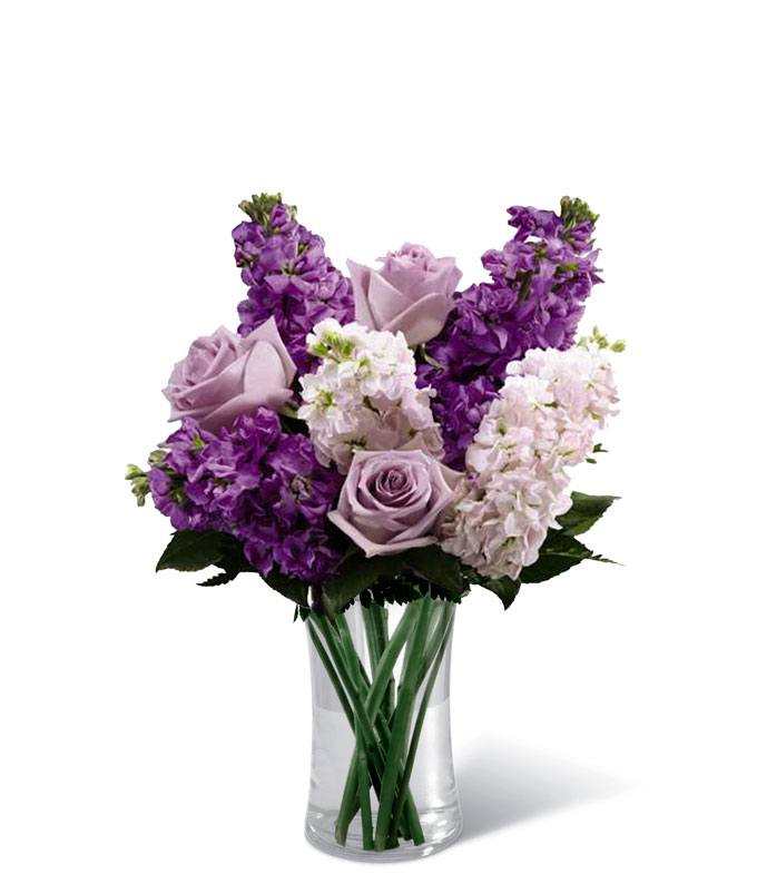 Purple roses and stock in glass vase  sc 1 st  FromYouFlowers & Sweet Devotion at From You Flowers