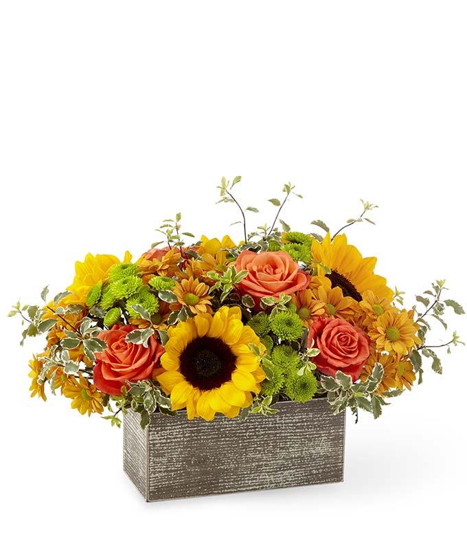 Modern Fall flower arrangement