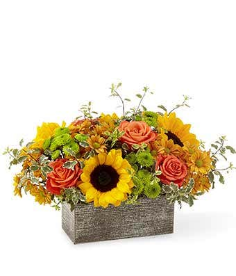 The Autumn Garden Bouquet Basket
