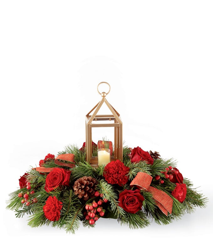 Festive Evergreen Centerpiece