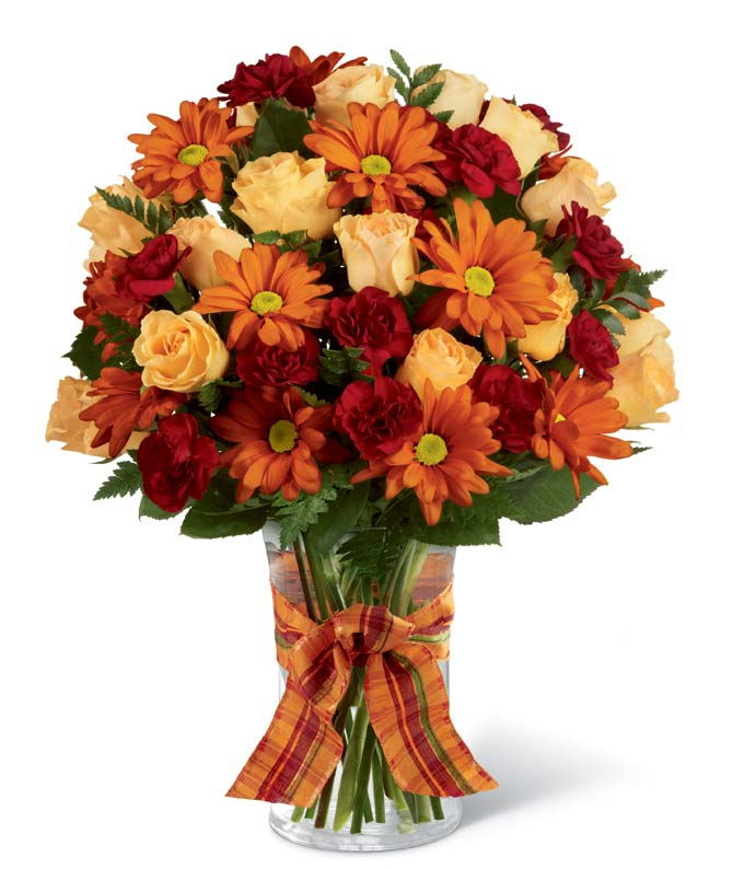 Flowers on sale fromyouflowers fall flowers delivered in a glass vase beautiful thanksgiving flower arrangement mightylinksfo
