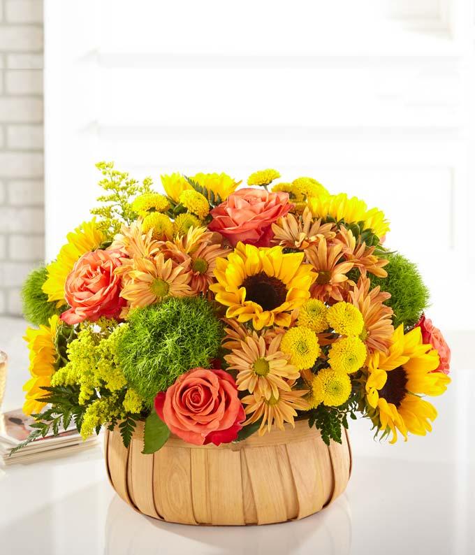 Sweet Sunflower Basket