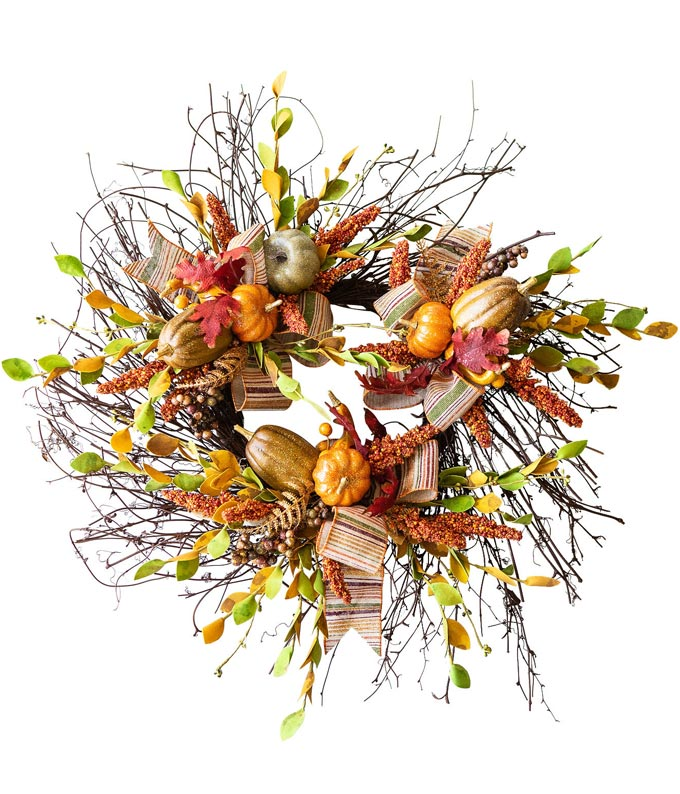 Bountiful Autumn Wreath