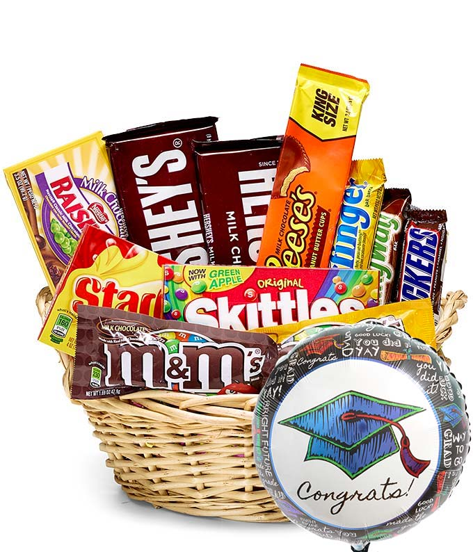 Graduation Candy Basket & Balloon