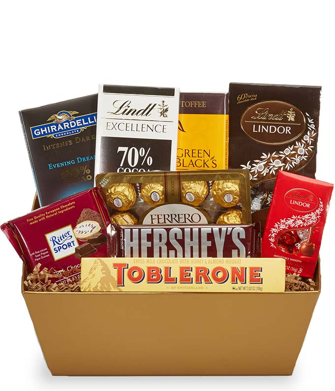 Chocolate lovers basket at from you flowers chocolate lovers basket negle Choice Image