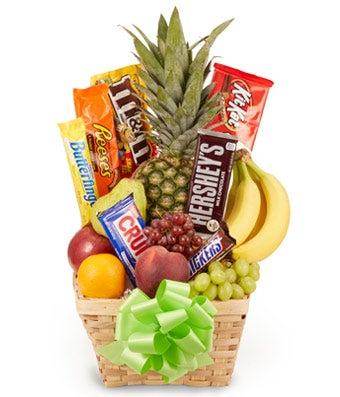 Fruit & Candy Gift Basket