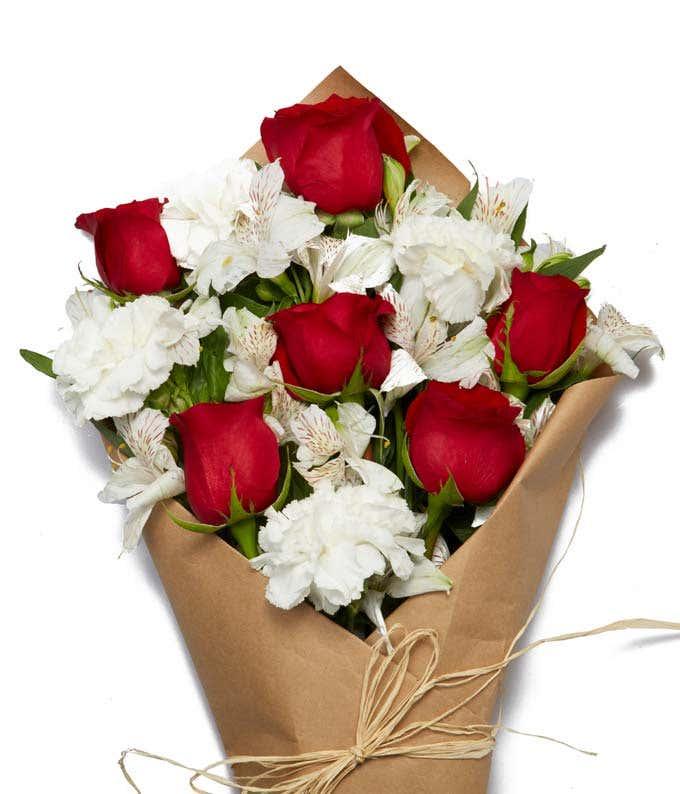 Farm Fresh Red & White Blooms