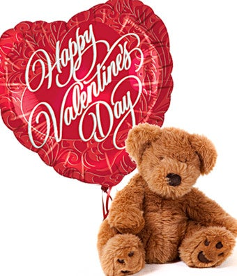 valentine's day teddy bear and balloon at from you flowers, Ideas