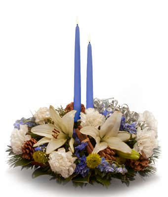 Blue Celebration Centerpiece