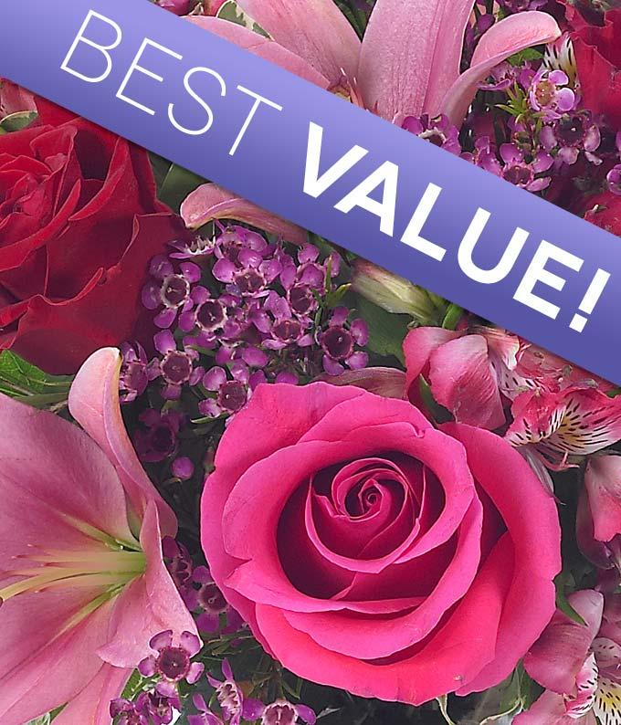 Florist arranged bouquet