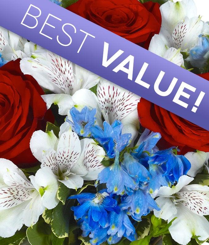 4th of July Florist Designed Bouquet