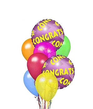 Congratulations balloon arrangement