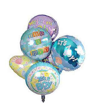 New baby boy balloons
