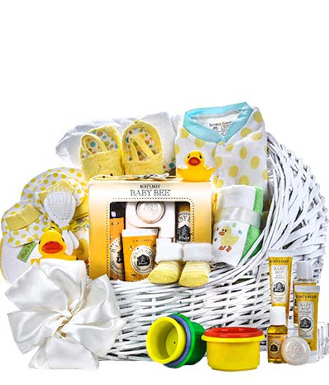 sc 1 st  FromYouFlowers & Burts Bees Baby Gift Basket at From You Flowers