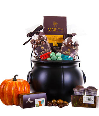 Halloween Cauldron of Chocolate at From You Flowers
