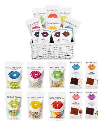Sugarpova Gummy Candy & Premium Chocolate Basket