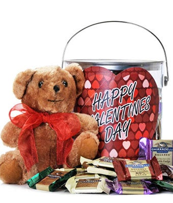 Gallon of Ghirardelli + Sweetheart Bear