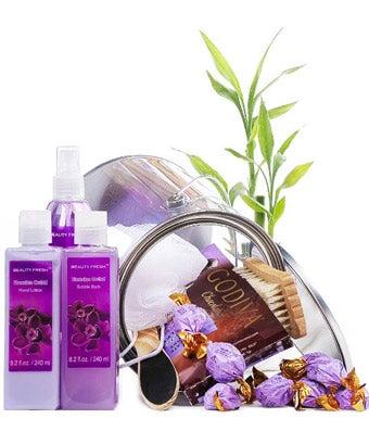 Purple Spa Treat Basket
