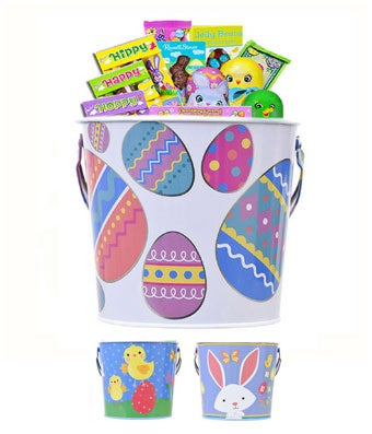 Easter tin filled with a variety of chocolate treats