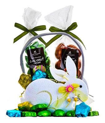 Hop into Spring Easter Bunny Basket
