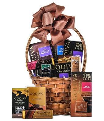 Luxury Godiva Easter chocolate basket delivered