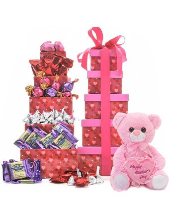 Mother's Day Heart Tower Filled With Love