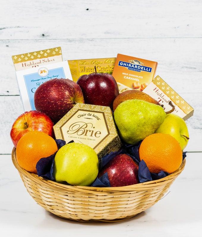 Connoisseur Fruit & Gourmet  Sympathy Basket