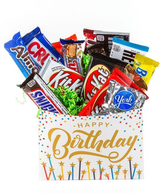 Happy Birthday Candy Bar Basket