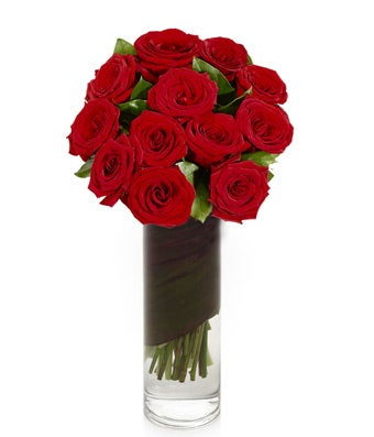 1-Dozen Red Roses in Vase