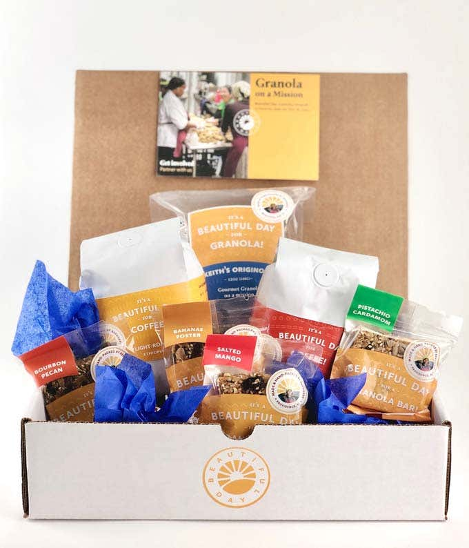 Coffee Lover's Healthy Snack Basket