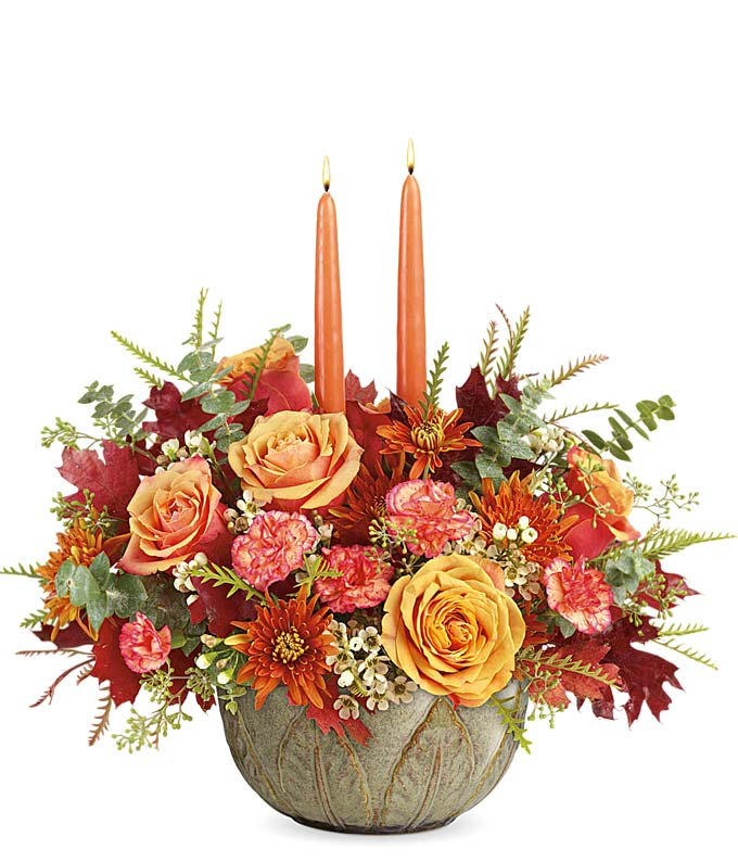 Luxury Fall candle centerpiece