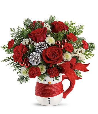 Snuggle Up Snowman Bouquet