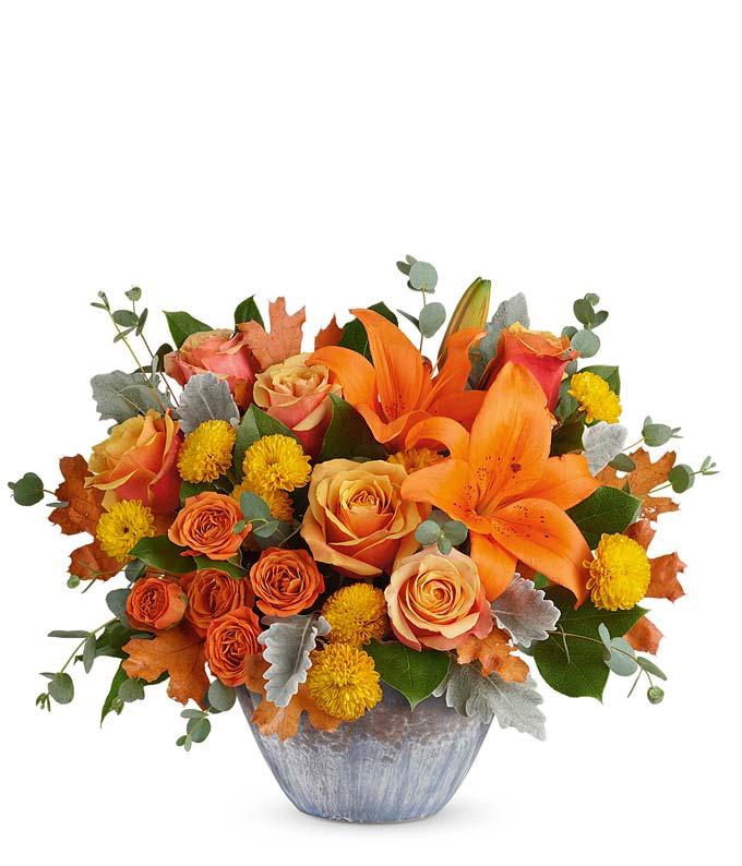 Large Orange Floral Centerpiece
