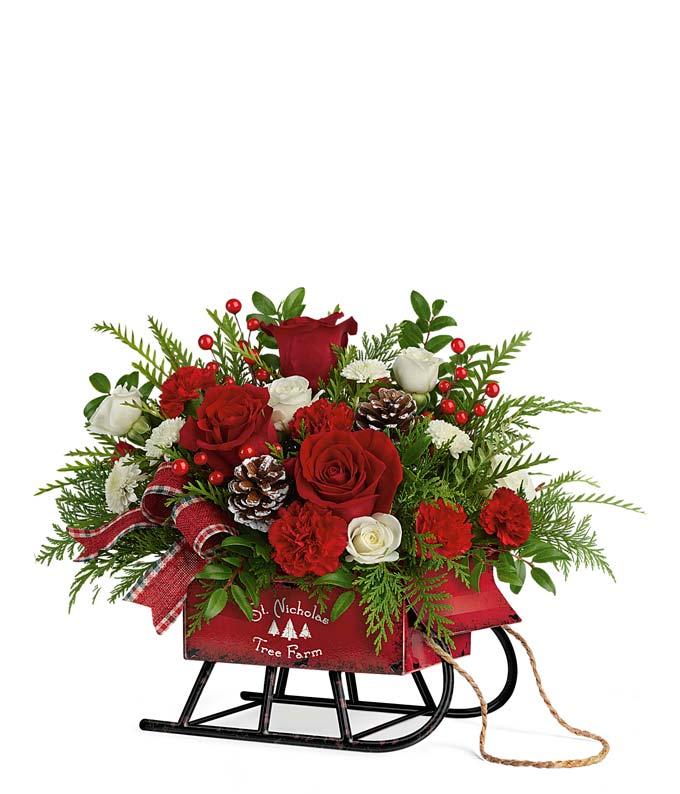 St. Nick's Sleigh Bouquet