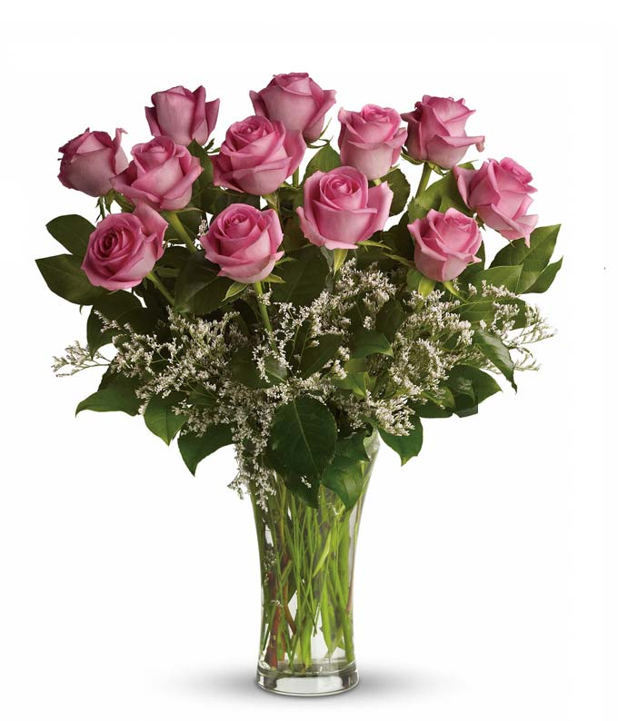 Luxury pink rose delivery