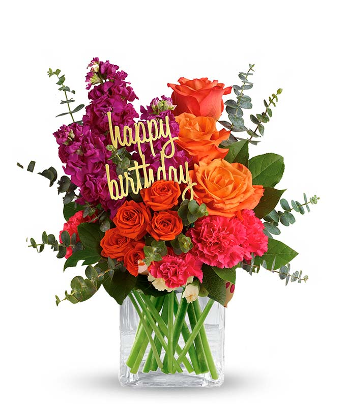 bright flower birthday bouquet