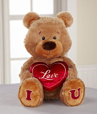 I Love U Plush Teddy Bear - 12 Inches