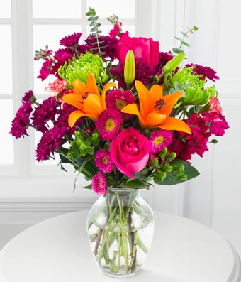 Flowers - Vibrant Hues Bouquet - Regular