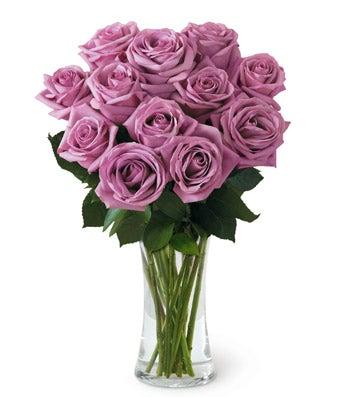 12 Long Stemmed Lavender Roses