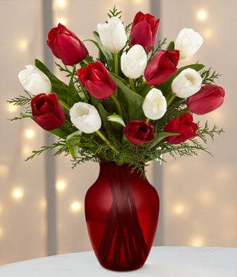 Christmas Tulip Bouquet - 15 Stems