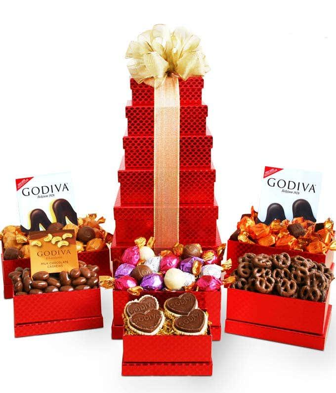 Godiva holiday chocolate gift basket