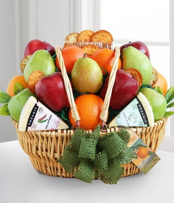 California Dreaming Fruit & Cheese Basket