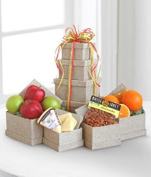 Organic Fruit & Cheese Tower
