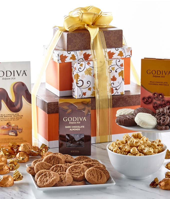Celebrate Fall Gourmet Gift Tower